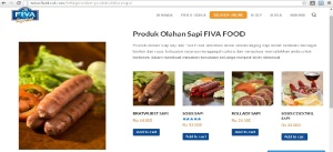 Tampilan web Fiva Food